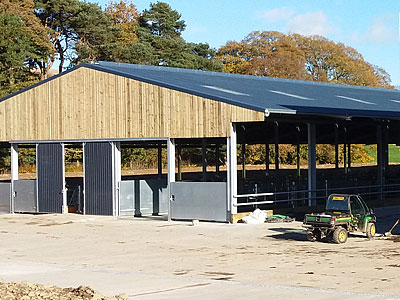 Cattle Shed Construction - BHC Agricultural Steelwork Contractor