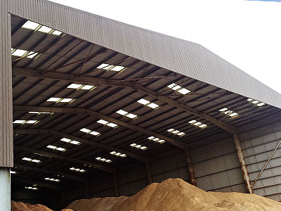 Aggregate Warehouse Construction - BHC Agricultural Steelwork Contractor